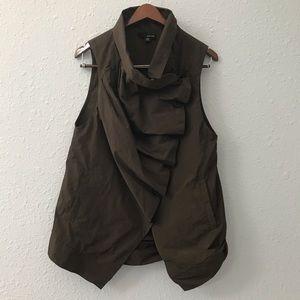 Sun Kim Jenny Vest: brown ruched vest size XS